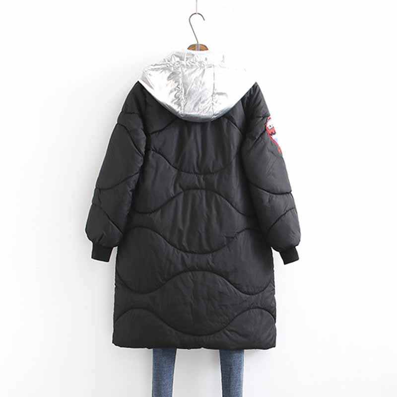Large Size Winter Cotton Parkas Women Thicken Hooded Jackets Female Fake Two Pieces Long Basic Coats Down Cotton Outerwear G193
