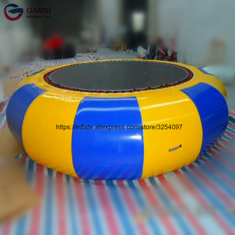 0.9mm PVC high quality inflatable trampoline customized color air bouncer inflatable trampoline cheap price water park equipment free shipping garden park outside pvc toys inflatable 13ft bouncer trampolines high quality interative games for sale