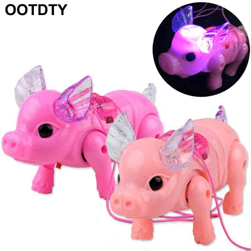 1 Piece Cute Dreamy Pig Pet With Light Walk Music Electronic Pets Robot Toys For Kids Boys Girls Gift