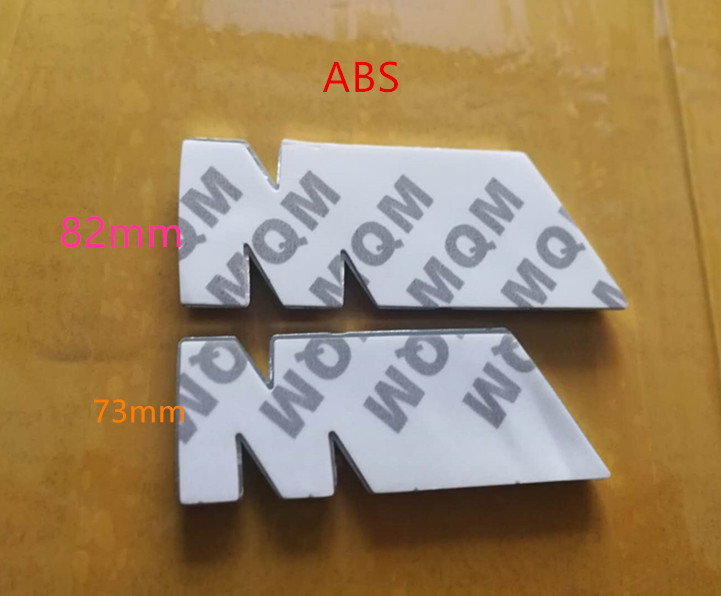 50X Chrome ABS 82mm 73mm M POWER CAR BADGE Emblem M Logo POWER SPORT HOOD BOOT