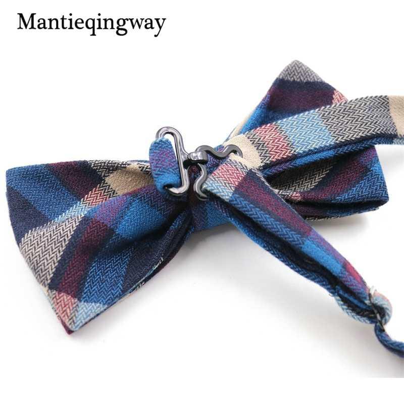 Mantieqingway мужские костюмы хлопчатобумажный галстук-бабочка для свадьбы клетчатый галстук-бабочка для мужчин полосатый шейный галстук Gravatas тонкие мужские галстуки