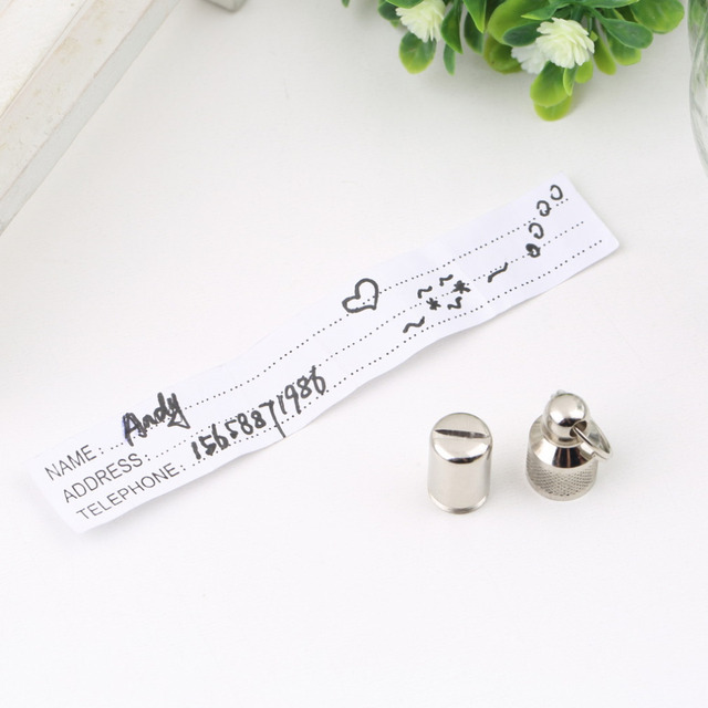 2Pcs Anti-Lost Pet Dog Cat Puppy ID Address Name Label Tag Barrel Tube Collar Worldwide store