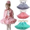 Pettiskirt con Volantes falda del bebé Del Tutú de una pieza al por menor chica balón vestido de falda de los niños tutú niños Hallowmas falda de ballet