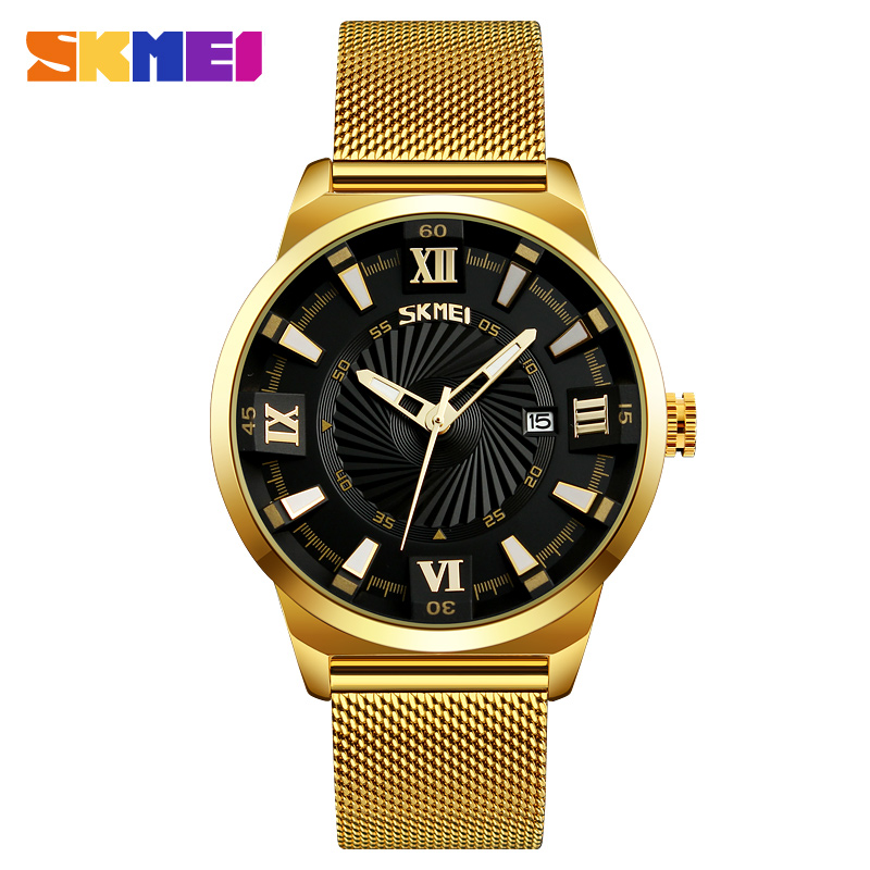 New SKMEI Watches Luxury Top Brand Men Watch Full Steel Fashion Quartz-Watch Casual Male Sports Wristwatch Date Clock Relojes new arrival 2015 brand quartz men casual watches v6 wristwatch stainless steel clock fashion hours affordable gift