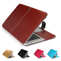 Cuoio DELL'UNITÀ di elaborazione protetive per il computer portatile macbook 11 12 13 15 pollici Air Pro Retina cover bag per 2016 nuovo modello A1706/A1707/A1708
