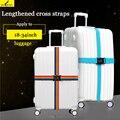 Travel luggage strap Adjustable Strong Nylon cross Belt for 18-34 Suitcase TSA/3 layer password lock/ Buckle Cross Straps