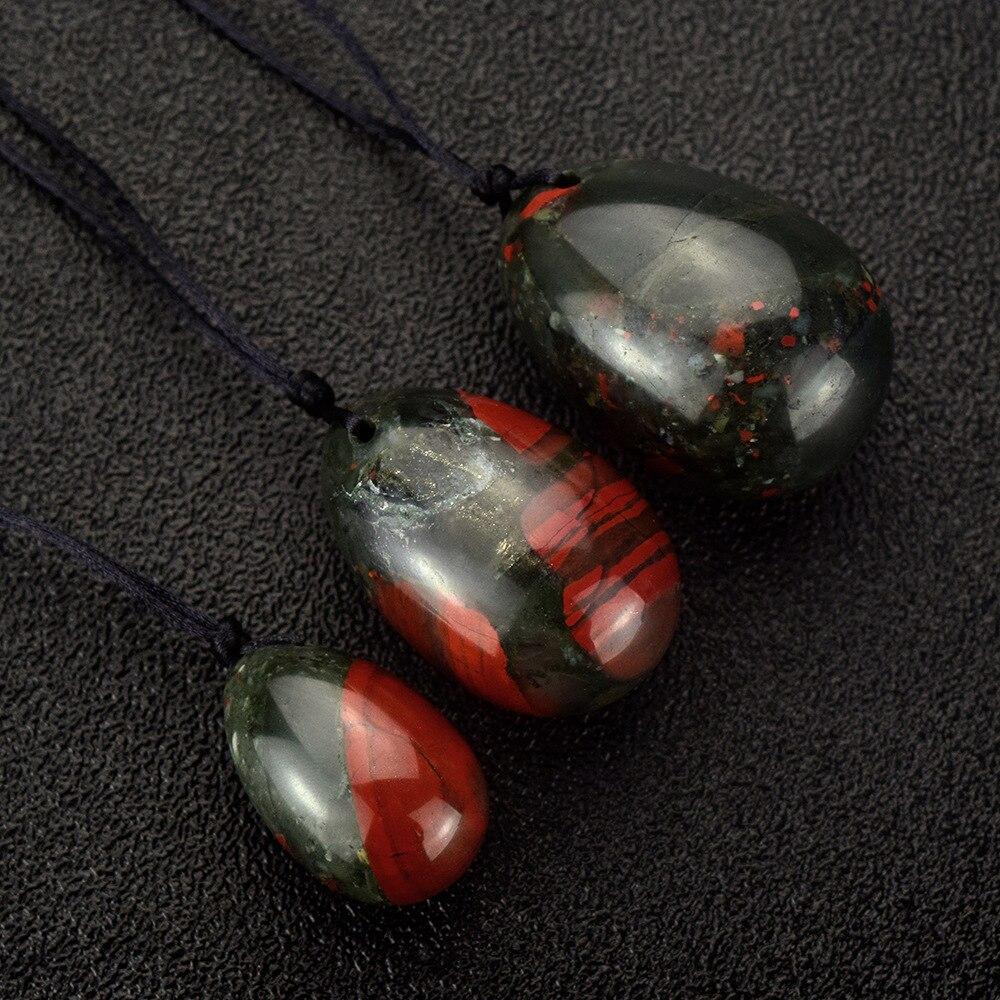 10 sets blooded stone Drilled Yoni Egg Ben Wa Ball Kegel Jade Eggs for Women Kegel Exercise Tightening Vaginal Muscle Massage