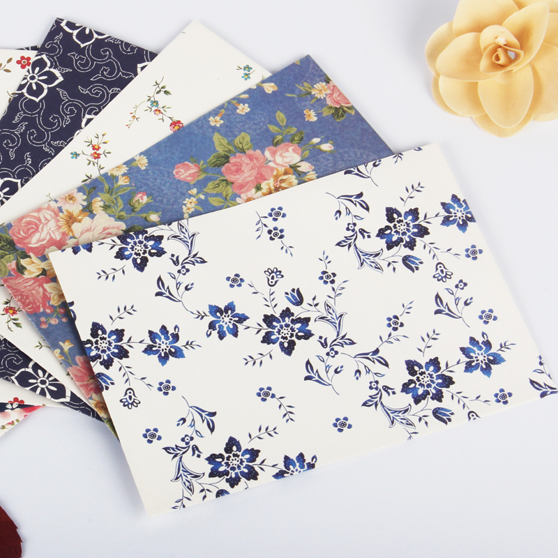 12pcs/lot Creative Exquisite Flower Envelope Letterhead Cherry Roses Letter Paper Fresh And Elegant Floral Envelope Love Letters