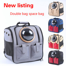Dog backpack pet space portable bag breathable cat dog supplies