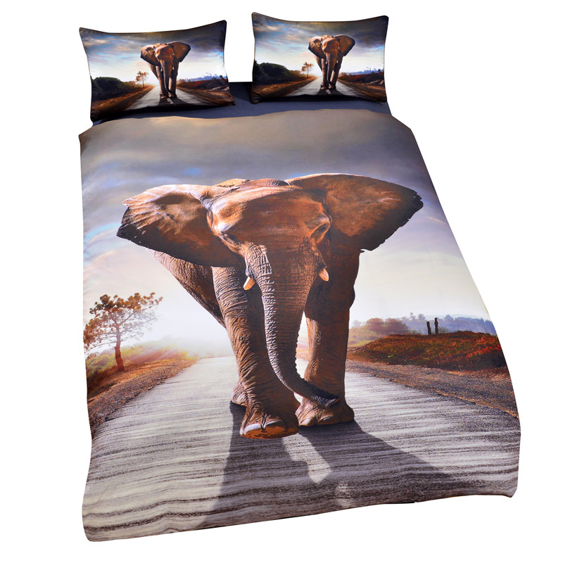 Elephant Child Cartoon 3D Bedding Nightmare Before Christmas Gifts for Family Bedlinen Duvet Cover set Pillow Sham  USA  AU SizeElephant Child Cartoon 3D Bedding Nightmare Before Christmas Gifts for Family Bedlinen Duvet Cover set Pillow Sham  USA  AU Size