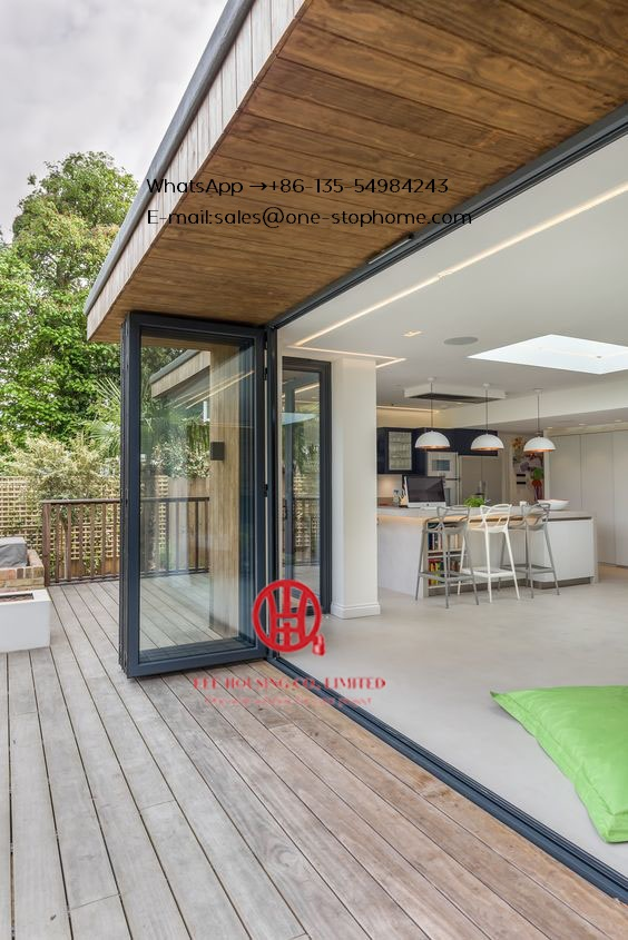 Double Glazing Lowes Bi Fold Door/Accordion Aluminum Glass Patio Exterior Bifold Doors /bi-fold Door Anti-clamping Folding Door