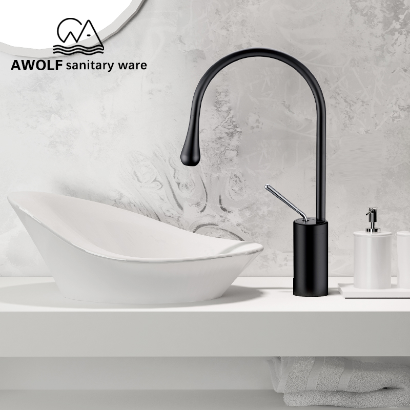 Basin Faucets Bathroom Sink Elegant Art Faucet Hot Cold Water Mixer Tap Toilet Wash Sink Single
