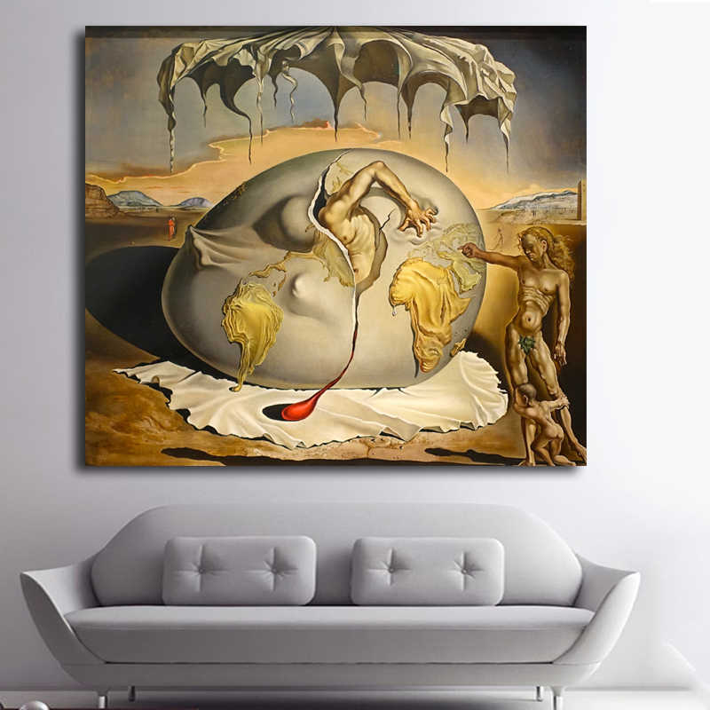 Salvador Dali Canvas Painting Famous Painting Reproduction Wall Art Print Classic Surrealism Decorative Painting Unframed