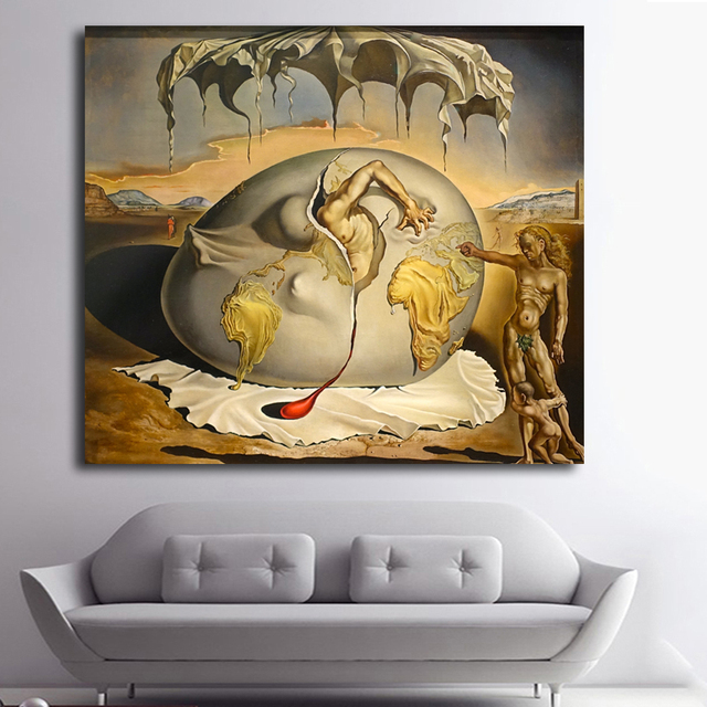 child watching the birth of the new man Salvador Dali Art POSTER ...