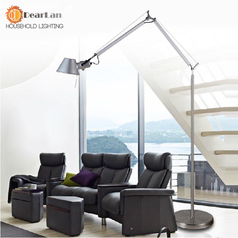American Study Living Room Floor Lamp Modern Minimalist Bedroom Creative Dual Send The Clip Free