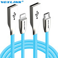 VOXLINK 3D Zinc Alloy Fast Charging USB Cable for iphone 6 6s Plus 5s 5 Sync DataMicro USB Cable For Samsung Galaxy S4 Android