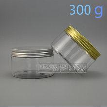 20 adet 300g şeffaf Plastik Kavanoz şişeleri Toptan Perakende Doldurulabilir Krem büyük Bal Boş Kozmetik Kapları