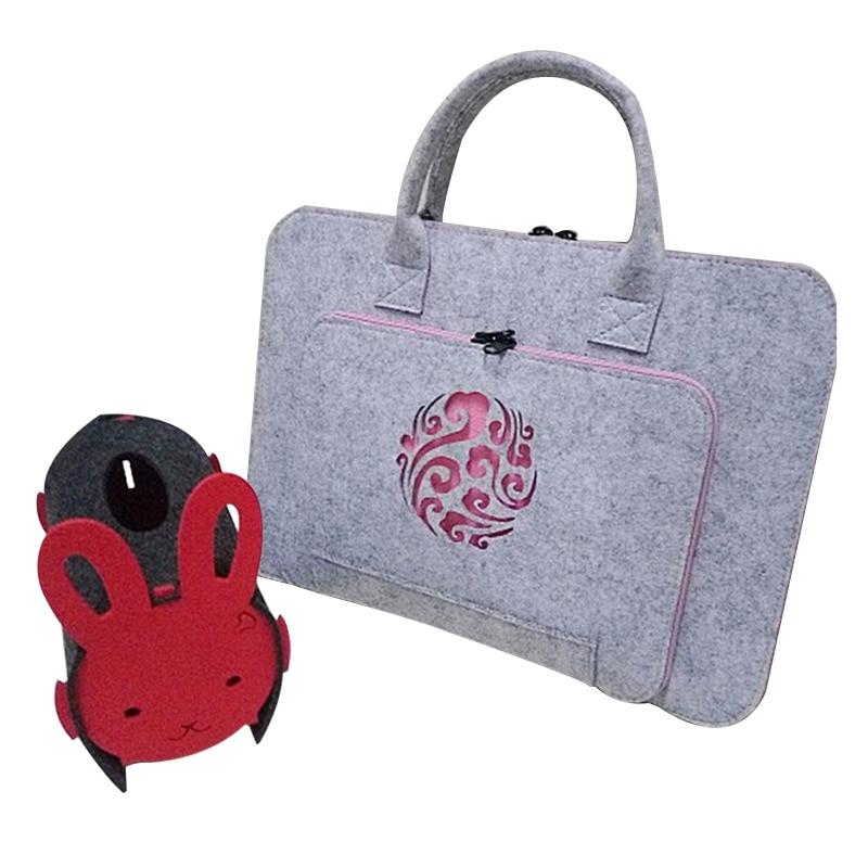 New Felt Universal Laptop Bag Notebook Case Briefcase Handlebag Pouch For Macbook Air Pro Retina 11/12/15/13/17 Inch Men Women