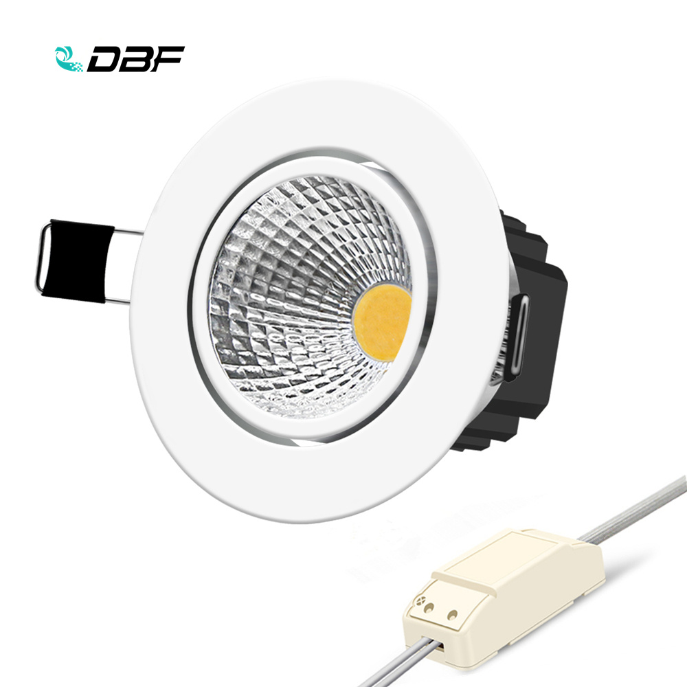 [DBF]1 Super Bright Recessed LED Dimmable Downlight COB 6W 9W 12W 15W LED Spot Light LED Decoration Ceiling Lamp AC 110V 220V