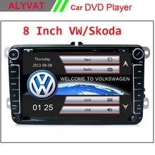 """Hot Dos Din 8 """"coches Reproductor de DVD Para VW/POLO/PASSAT/Golf/Skoda Octavia/ASIENTO/LEON Con AM FM Radio GPS BT 1080 P Ipod RDS Mapa Navitel"""