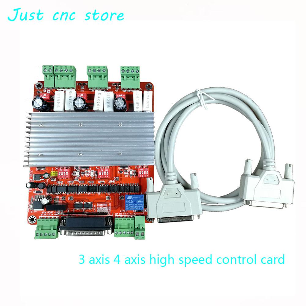 CNC 3 Axis 4 Axis TB6560 3 5A Stepper Motor Driver Controller mach3 usb circuit board inverter welding in Motor Driver from Home Improvement