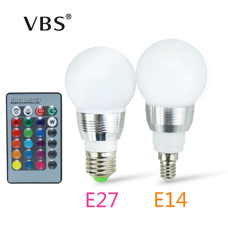 High Power RGB LED Lamp E27 E14 3W 5W RGB 8W 12W RGBW RGBW Light AC85-265V Lampara 16 Colors Remote Controller bombillas led rgb bulbs e12 e14 3w 5w led bulbs 15 colors changing candle light bulb lamp w remote control ac85 265v colorful lampada lampen