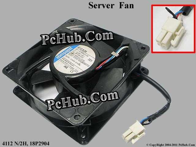 ebm papst   4112 N/2H DC 12V 6.4W 3-wire 4-pin 120x120x38mm Server Square fan free shipping papst 12038 12v 4 5w 4312 n 2h server fan cooling fan 12cm 120x120x38mm