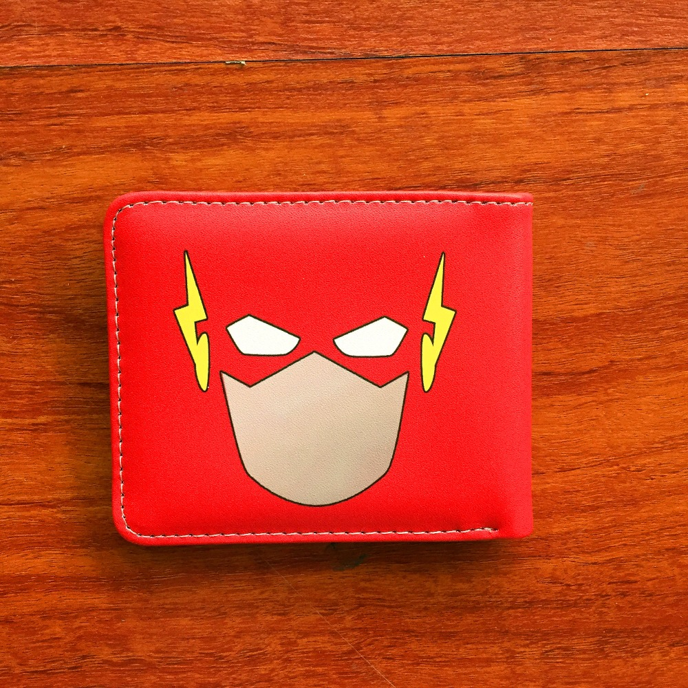 marvel the flash comic logo bi fold wallet mens credit card holder