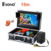 EYOYO 9 Color LCD 15M HD 1000TVL Fishing Camera Fish Finder White LED Fish CAM Under Water Remote Control