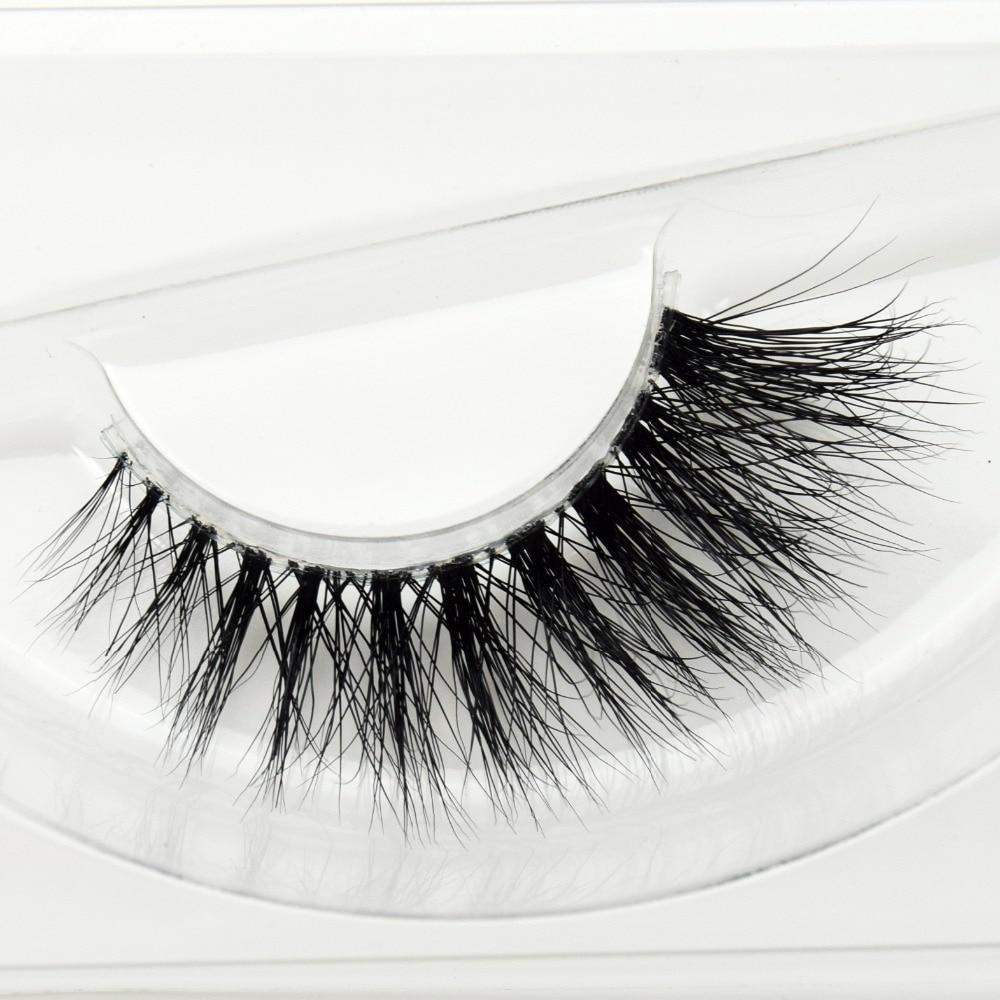 Visofree Mink Lashes 3D Mink Eyelashes Invisible Band Natural Black Mink False Eyelash Full Strip Cilios Posticos Reusable F36