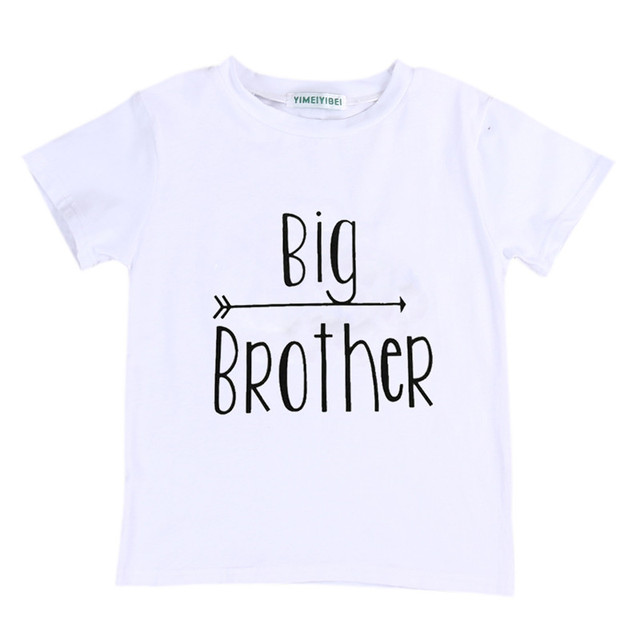 Family Matching Outfits Big Brother Baby Boys T-shirt Little Brother Romper  Bodysuit Matching Clothes