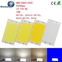 10PCS LED COB Strip DIY Car Light lamp With RF Controller 12V DC 16W Natural Warm White Blue 94x50mm FLIP Chip COB led tubes