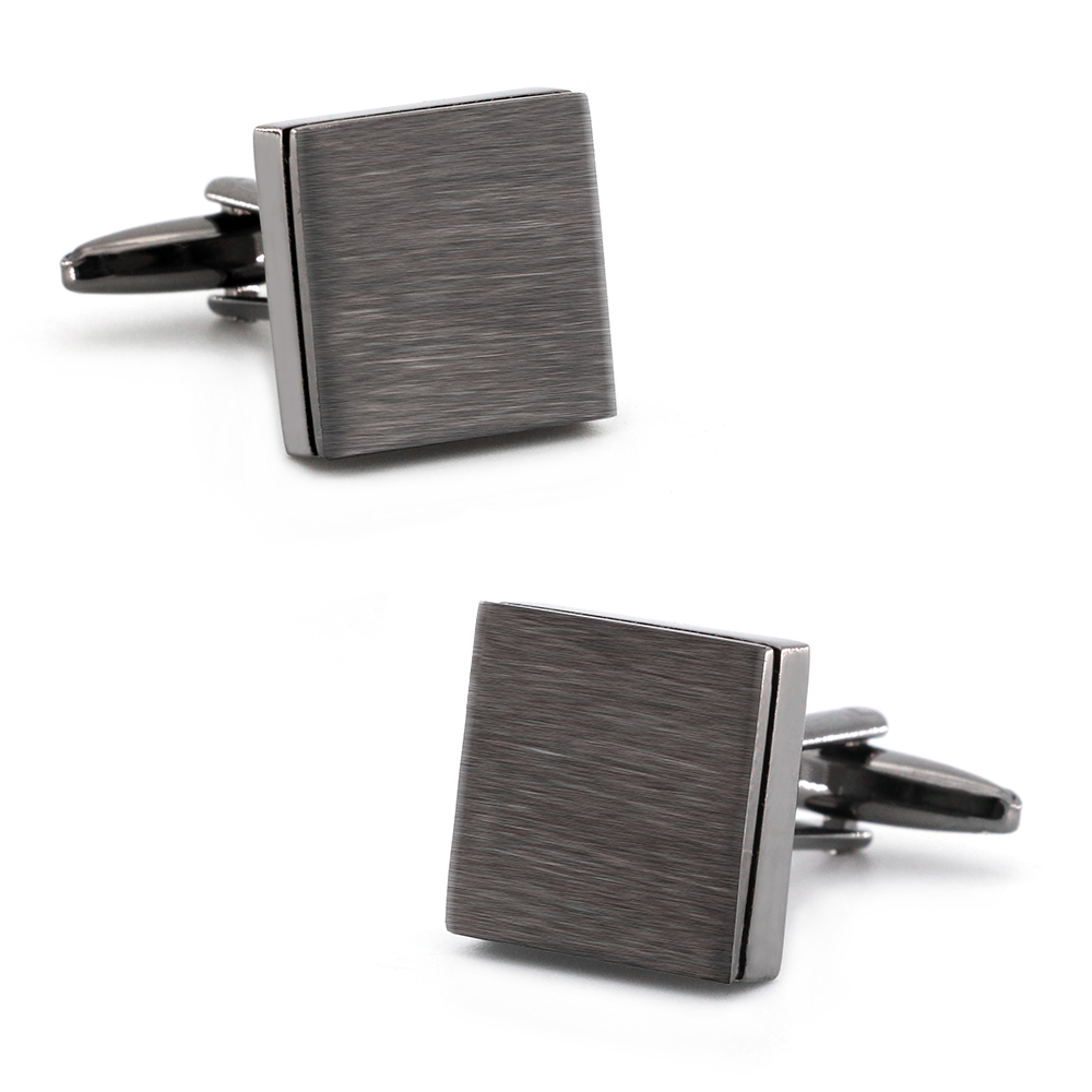 IGame Fashion IP Black Cufflinks Gun Metal Color Plating Brass Material Men French Cuff Links Free Shipping