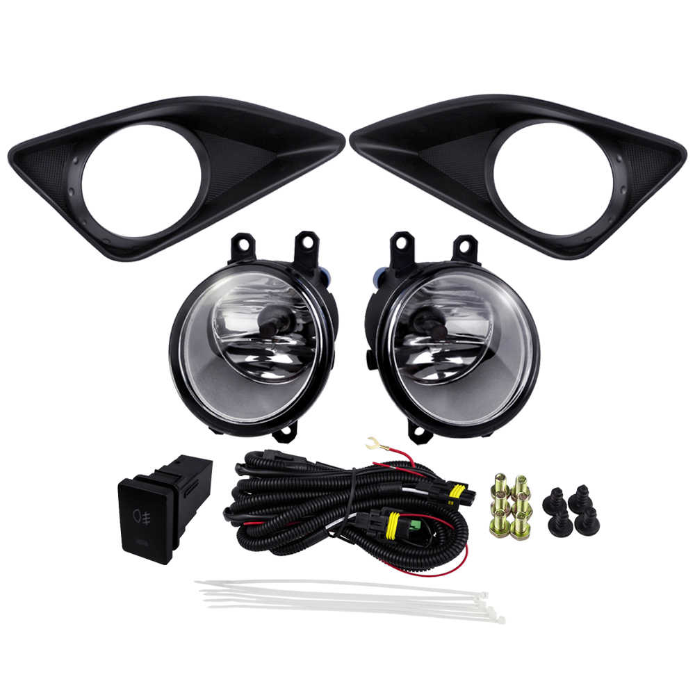 Autumobile Styling For Toyota Corolla Altis 2008 Corolla 2009 Fog Light Assembly Linghs Sets ABS 4300K Yellow 12V 55W USA TYPE new halogen fog light lamp with wires and button for toyota corolla 2014 altis