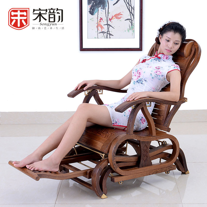 Tang Huangxuan Mahogany Furniture Wooden Chair Rocking Chair Adult Chinese Antique Chair Factory Direct