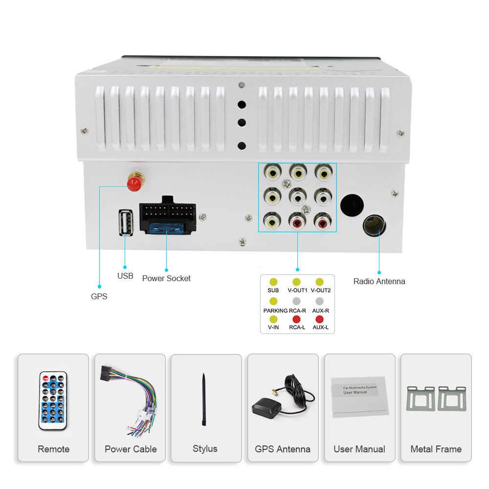 Eunavi ダブル 2 Din ユニバーサルカー dvd ラジオプレーヤー gps ナビゲーション USB BT ビデオ無料地図カード + カメラ 2din ステレオカー pc タブレット