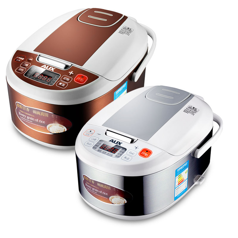 220V Household 3L Electric Rice Cooker Non-stick Intelligent Coffee Color Multi Rice Cooker Kitchen Tool EU/AU/UK/US Plug
