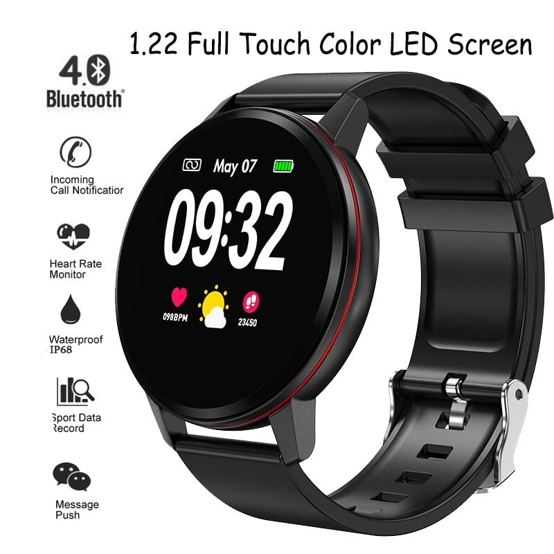 LIGE smart braccialetto schermo di tocco Pieno di Inseguitore di fitness Frequenza Cardiaca Misuratore di Pressione Sanguigna monitor di dormire wristband impermeabile della vigilanza di sport