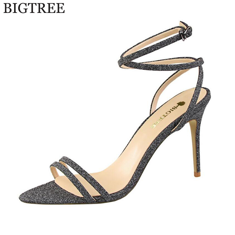 big size fashion scarpe donna tacco alto sexy flock ankle wrap zapatos mujer chaussure femme women high heel women shoes sandals BIGTREE Sandals Ankle band shoes Pumps Fashion High Heels Shoes Wedding Women Shoes Chaussure Femme  Sandals Zapatos Mujer k196