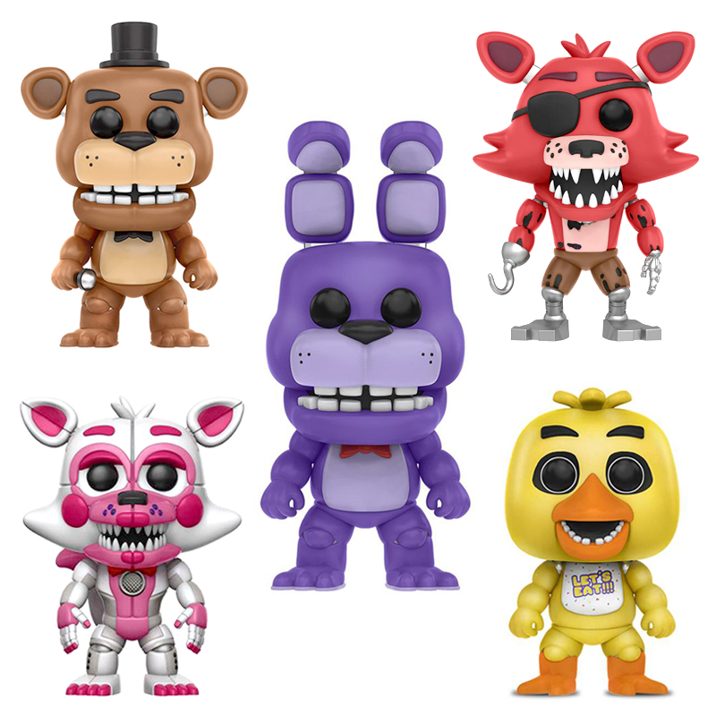 3PCS/Set PVC Action Figure Anime Five Nights At Freddy's Dolls FNAF Toys Nightmare Chica Bonnie Foxy Freddy 5 Fazbear Puppet
