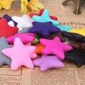100 unid NUEVO Juguete mordedor Bebé de Silicona Cuentas de Silicona En Forma de Estrella Jewely Colgante colores Mezclados DIY collar/Pulsera Chupete Clips
