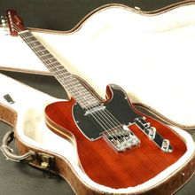 Quality mahogany body maple core in middle of body brown tele electric guitar free shipping недорго, оригинальная цена