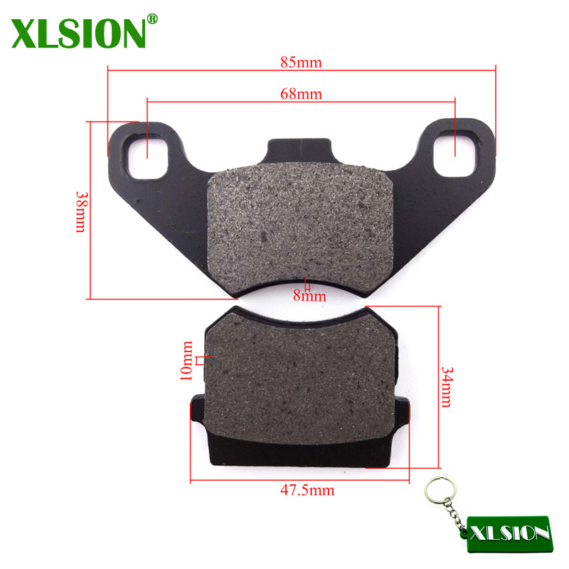 XLSION Shoes 90cc Atv Kazuma Falcom Brake-Pads Rear for Meerkat 50-90/Dingo/70/..