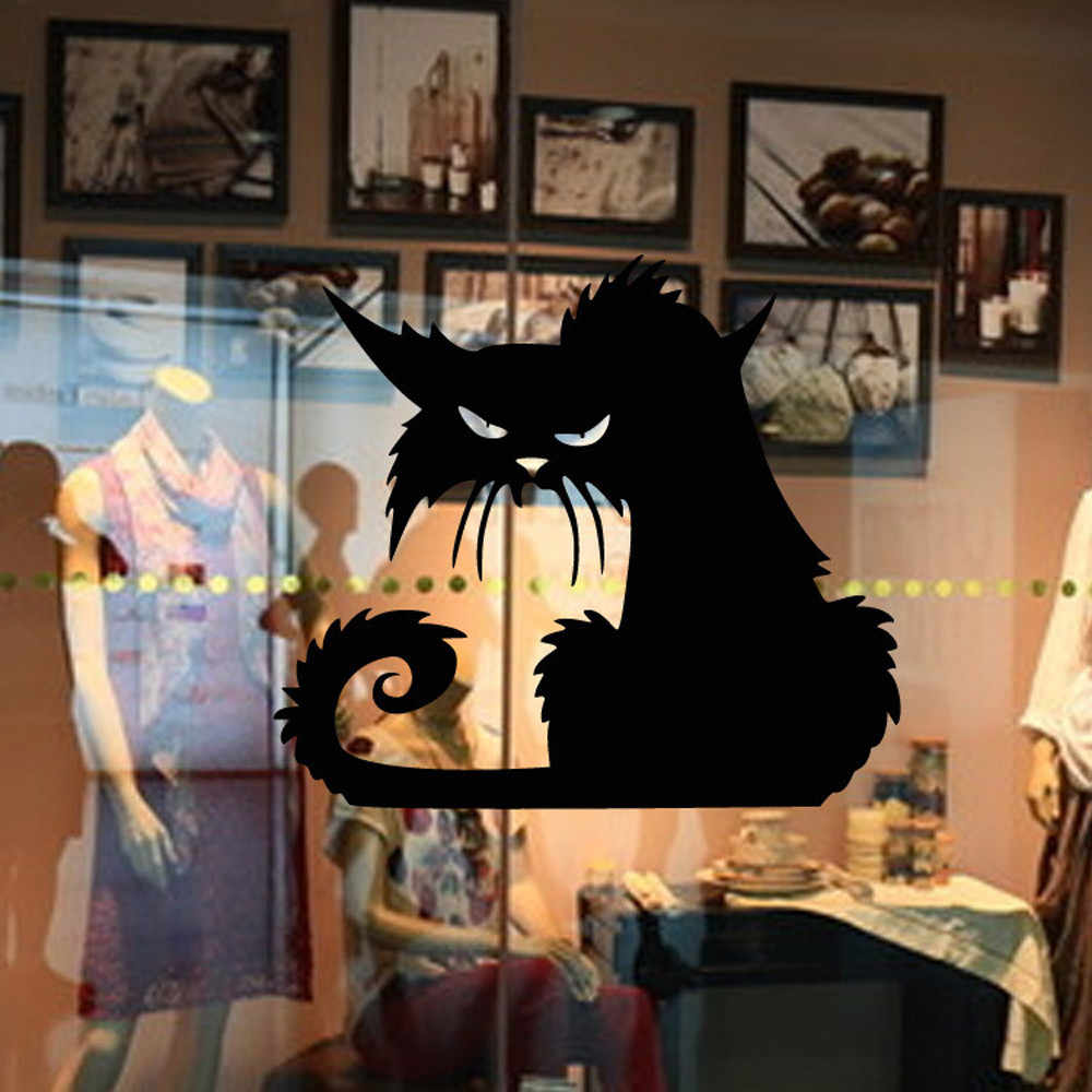Vinyl Removable 3D Wall Sticker Halloween Black Cat Decor Decals For Walls Decal wall sticker wall decor