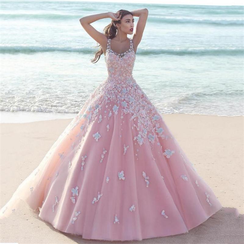 Картинки свадебных платьев розовых