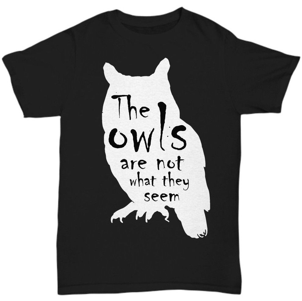 Twin Peaks The Owls Are Not What They Seem Mens T Shirts Summer Hipster
