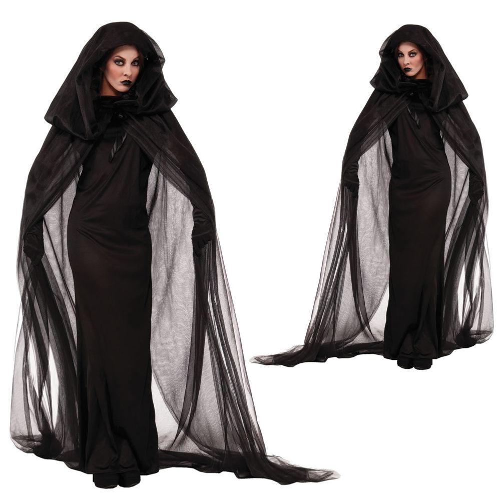 Aliexpress.com : Buy M XXL Adult Black Evil Witch Costume Female ...