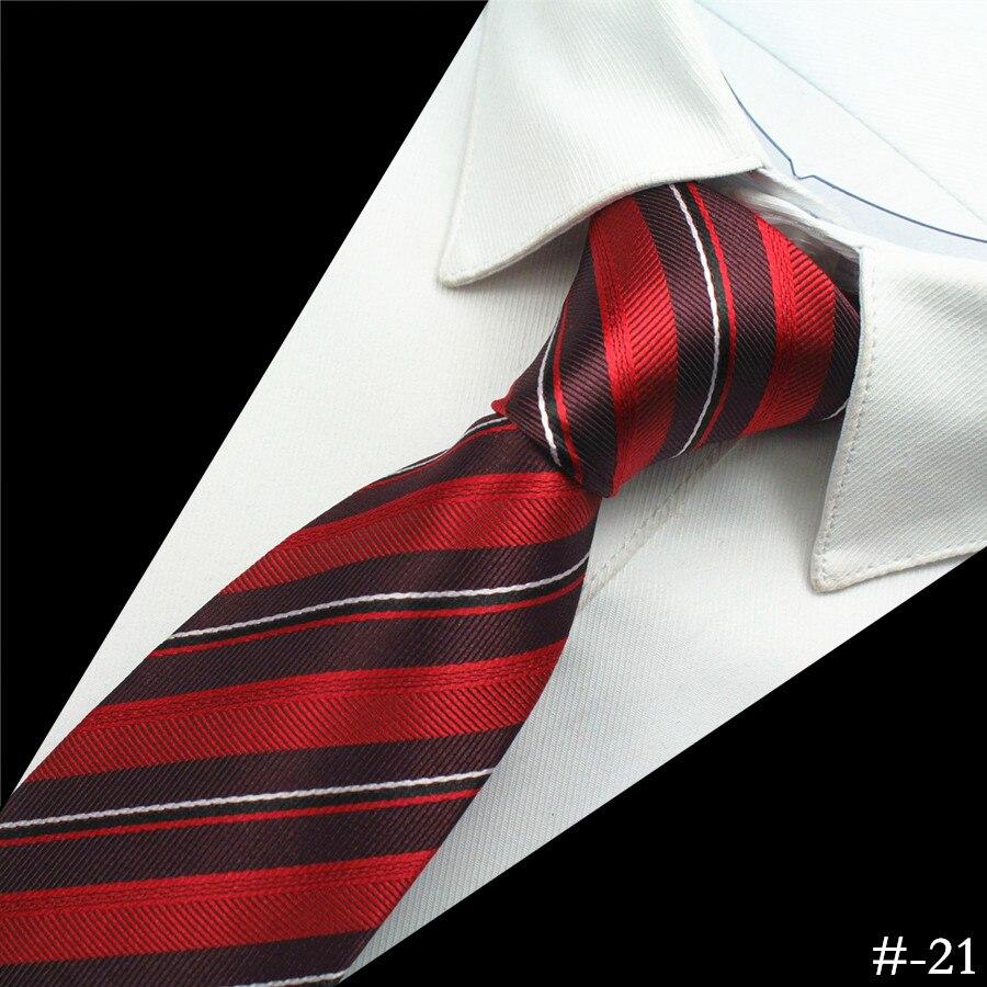 GUSLESON Silk Men Tie 8cm Plaid Paisley Neck Hubungan untuk Lelaki - Aksesori pakaian - Foto 6