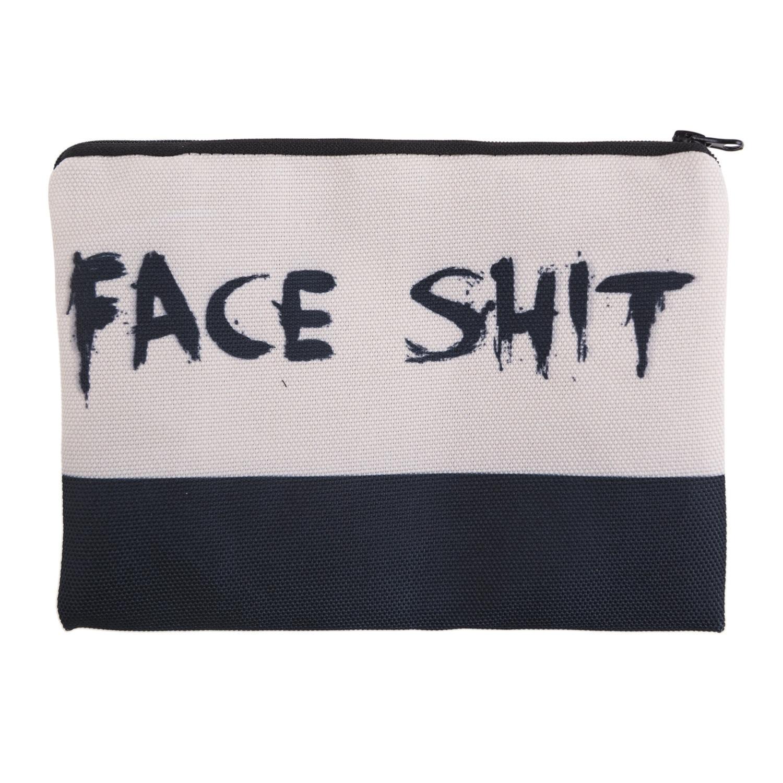 Funny Makeup Cosmetic Bag 2019 New Fashion Slim  Women Little Handbag Travel Stationery Zipper Purse Wash Organizer Clutch Case
