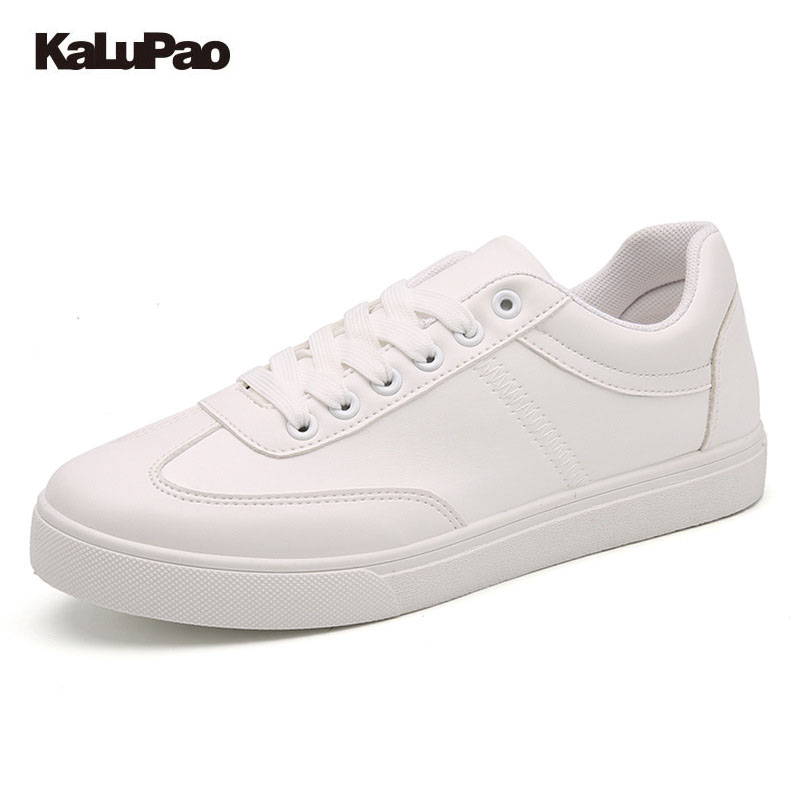 kalupao Big Child Casual Shoes Fashion Children Flat Shoes Girls Boys Breathable Sport Shoe PU Leather School Sneakers Soft sole baijiami 2017 new children solid breathable slip on pu casual shoes boys and girls spring summer autumn flat bottom shoes